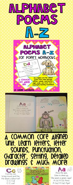 Alphabet Poems A-Z for Poetry Notebooks