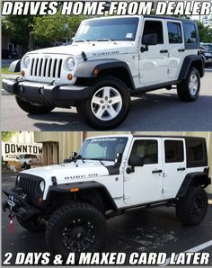 just some jeep stuff. remember keep the Jeep wave alive ! Jeep Meme, Auto Jeep, Jeep Humor, Jeep Cars, Jeep Truck, Wrangler Jeep, Jeep Rubicon, Jeep Wranglers, White Jeep Wrangler Unlimited