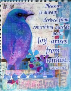 Joy Arises From Within (print) - Eckhart Tolle #quote
