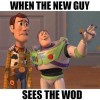 Actually that's me when I see the wod almost every time I'm there tyvm #noshame #wod