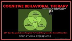 CBT can be applied and adapted to treat many specific mental disorders.  CBT helps an individual focus on his or her current problems and how to solve them. Both patient and therapist need to be actively involved in this process. The patient learns how to identify distorted or unhelpful thinking patterns, recognize and change inaccurate beliefs, and change behaviors accordingly. Article post by ~ Dr. Neal Houston, Sociologist (Mental Health & Life Wellness) EDUCATION & AWARENESS