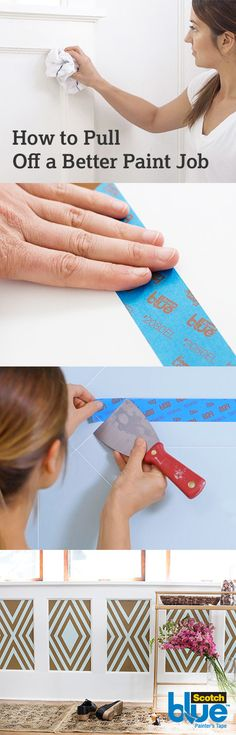 Check out ScotchBlue™ Brand's Guide to Taping to view our best tips for perfect painting prep. With the right products and knowledge anyone can master the proper prepping to pull off a better paint job.
