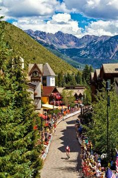 """VAIL, COLORADO One of those places where you keep saying aloud, """"I want to live here!"""" Fun Fact 5 Vail, Colorado was founded in and Vail Village was modeled after a Bavarian village! Vail Colorado, Living In Colorado, Colorado Homes, Colorado Mountains, Denver Colorado, Colorado Springs, Centennial Colorado, Colorado Trip, Rocky Mountains"""