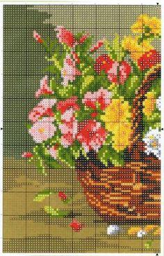 Вышивки цветы каталог