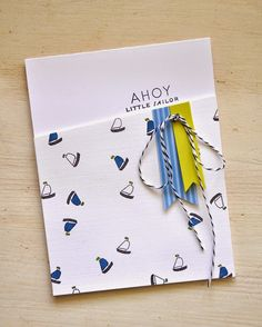 Bitty Baby Blessings Revisited: Ahoy Little Sailor Card by Maile Belles for Papertrey Ink (May 2015)