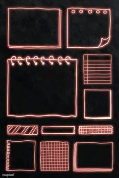Bullet Journal Writing, Bullet Journal Ideas Pages, Bullet Journal Inspiration, Blank Journal, Choses Cool, Note Doodles, Powerpoint Background Design, Instagram Frame, Frame Template