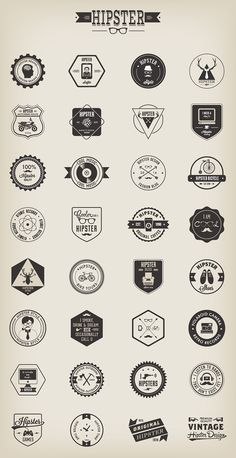 Hipster design Art - A set of 32 Hipster badges designed by Vecteezy The überfashionable badges come in different file formats, including PNG and vector with editable fonts Hipster Design, Hipster Logo, Hipster Brands, Hipsters, Logo Montagne, Typography Logo, Lettering, Logo Branding, Badges