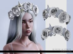 Searose Headpiece Found in TSR Category 'Sims 3 Earrings for both Ears' Sims 3, Sims 4 Mods, Sims 4 Mm Cc, Sims 4 Anime, The Sims 4 Packs, Sims 4 Cc Makeup, Mermaid Crown, Sims Games, The Sims 4 Download
