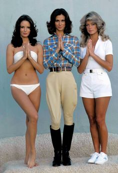 "Farrah Fawcett(r) with Kate Jackson(m) and Jacklyn Smith(l) as TV's ""Charlie's Angels"""