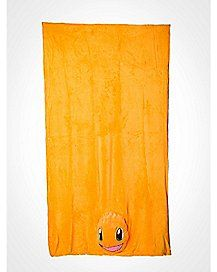 Charmander Plush Head Fleece Blanket