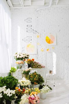 designlovefest studio filled with flowers