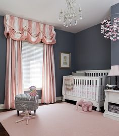 Omg yes this is the most perfect baby girl room ever!! Since I'm so picky about the color pink. This is wonderful!!!