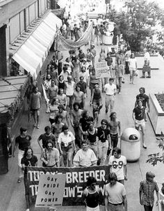 Gay Pride March, Nicollet Mall, Minneapolis, 1974