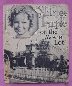 """Vintage 1934 Shirley Temple Book """"On the Movie Lot""""  For sale on Ruby Lane"""