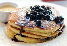Clinton Street Baking Company's Famous Blueberry Pancakes.... so making this.  NYC I really miss you, but Chicago is my home!