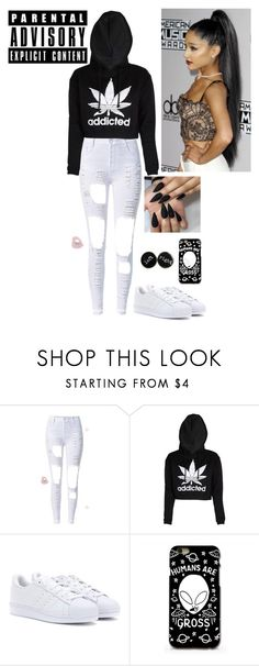 """."" by bittersweetgrande ❤ liked on Polyvore featuring adidas"