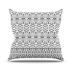 East Urban Home Tambourine by Pom Graphic Design Outdoor Throw Pillow