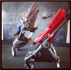 Stokke Scoot sleek design in a compact easy to fold stroller.