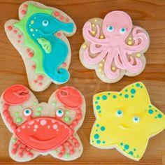 sea creature cookies