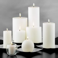 White Unscented Candles
