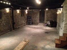Trendy old basement stairs pictures Ideas Exposed Basement Ceiling, Basement Ceiling Painted, Basement Ceiling Options, Old Basement, Basement Stairs, Basement Bedrooms, Basement Flooring, Ceiling Ideas, Basement Bathroom