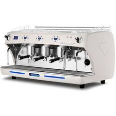 The Diamant espresso coffee machine with 2 & 3 group head configurations controls coffee dosages volumetrically and delivers automatic water filling. Espresso Coffee Machine, Coffee Maker, Barista Machine, Steel Detail, Latte Macchiato, Water Tap, Fresh Coffee, Vending Machine, Coffee Shop