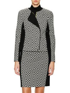 Givon Cotton Checked Jacket by Trina Turk at Gilt