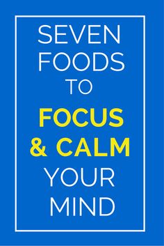 What you put on your place can really impact how your brain functions and your level of productivity as well as keep you healthy all around. Click here for 7 foods to help you think better, work faster and be more focused. TheHealthMinded.com #health #brain