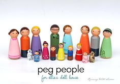Running With Scissors: Doll House Part 1: peg people. A little too excited about this!