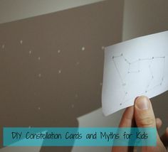 Printable constellation cards for kids - with accompanying kid friendly Greek Myths!  Learn all about Draco the Dragon, Ursa Major, and more!