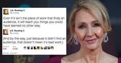 J.K. Rowling Just Gave The Best Advice Any Aspiring Writer Will Ever Receive