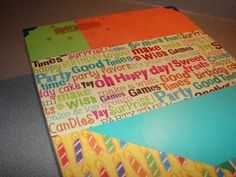 Happy Birthday Memory or Keepsake Box  Bright by MyMemoryBoxes, $40.00
