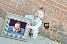 I wish I had done this for Koa's first birthday. Then take a picture every year with the previous year's photo.
