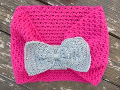 bow cowl circle scarf free crochet pattern
