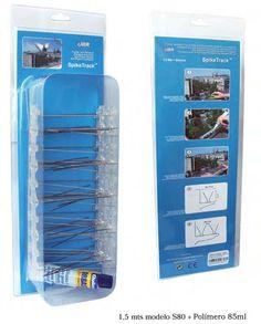 Pinchos aves (1,5 mts modelo S-80 más adhesivo en caja), CONTROL DE PLAGAS