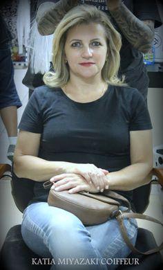 Katia Miyazaki Coiffeur - Salão de Beleza em Floripa: Cabelo com mechas Loiras -  Modelado - Hidratado -...