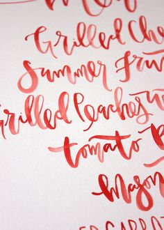 Keeping the pantone fiesta red theme going by using it as a print for the menus. Credit:http://www.wantthatwedding.co.uk #WedPin #AcademyLive #Wedding