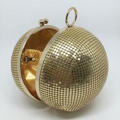 21656c06e Ball clutch esfera de ouro, é ou nao linda!!!tem a pronta