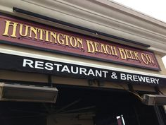 Huntington Beach Beer Co. & Restaurant provides American eats & beer brewed on-site are offered in a relaxed space with brick walls & outdoor seats.