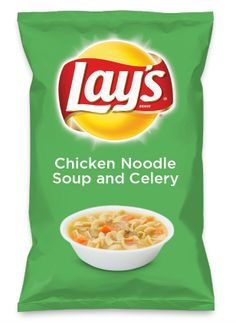 Wouldn't Chicken Noodle Soup and Celery be yummy as a chip? Lay's Do Us A Flavor is back, and the search is on for the yummiest chip idea. Create one using your favorite flavors from around the country and you could win $1 million! https://www.dousaflavor.com See Rules.