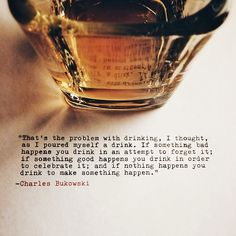 Submission Saturday - Charles Bukowski's Birthday Edition Quote Submitted by itsskubasteve Cheers.
