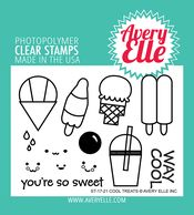 Cool Treats clear stamps by Avery Elle.
