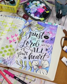 Bible Journaling by @makewells