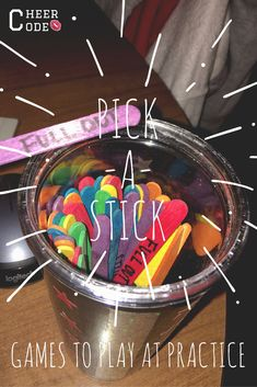 Pick-a-Stick Cheer Code Team Bonding Games, Cheer Games, Cheer Stunts, Cheer Dance, Team Activities, Cheer Athletics, Cheer Routines, Cheer Workouts, Cheerleading Workouts