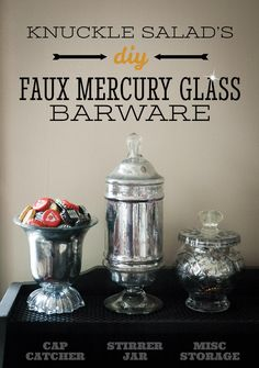 DIY Mercury Glass Barware