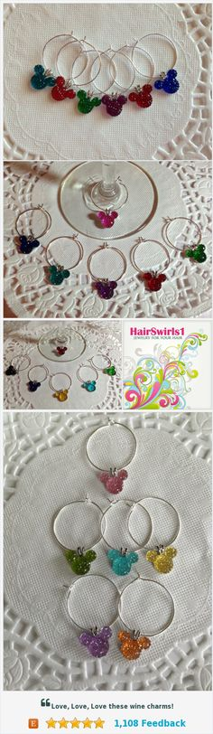 JEWELRY FOR YOUR HAIR by HairSwirls1 Wine Charms The perfect gift for your favorite Disney Fan https://www.etsy.com/shop/HairSwirls1?ref=seller-platform-mcnav&search_query=wine+charms