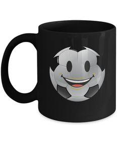 Soccer Ball Smiling Emoji Face Futbol Coffee Mug