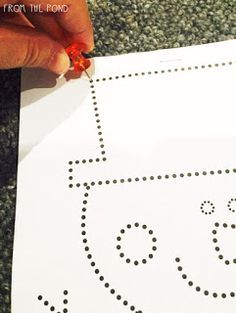 FREE Snowman Fine Motor Activity- repinned by @PediaStaff – Please Visit  ht.ly/63sNt for all our pediatric therapy pins
