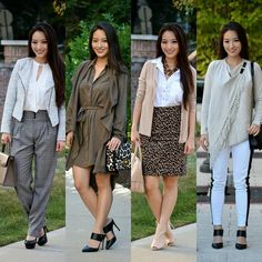 Four work-friendly looks  which one do you like best?  by sensiblestylista