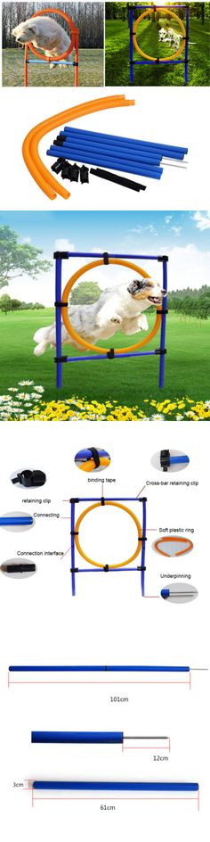 Agility Training 116383: New Dog Agility Training Obedience Jump Hurdle 6 Weave Pole Training Hoop Set -> BUY IT NOW ONLY: $37.04 on eBay!